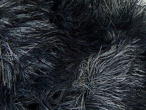 Fiber Content 100% Polyamide, Brand Ice Yarns, Grey, Black, Yarn Thickness 5 Bulky Chunky, Craft, Rug, fnt2-31646