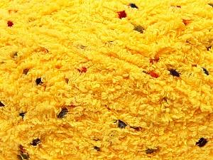 Fiber Content 85% Micro Fiber, 15% Polyamide, Brand Ice Yarns, Dark Yellow, Yarn Thickness 5 Bulky  Chunky, Craft, Rug, fnt2-32480