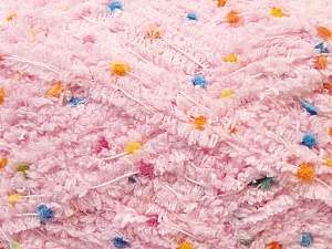 Fiber Content 85% Micro Fiber, 15% Polyamide, Light Pink, Brand Ice Yarns, Yarn Thickness 5 Bulky  Chunky, Craft, Rug, fnt2-32484
