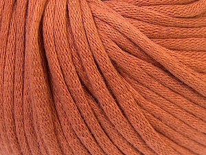 This is a tube-like yarn with soft cotton fleece filled inside. Fiber Content 70% Cotton, 30% Polyester, Brand Ice Yarns, Copper, Yarn Thickness 5 Bulky  Chunky, Craft, Rug, fnt2-32491