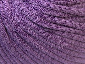 This is a tube-like yarn with soft cotton fleece filled inside. Fiber Content 70% Cotton, 30% Polyester, Lavender, Brand Ice Yarns, Yarn Thickness 5 Bulky  Chunky, Craft, Rug, fnt2-32501