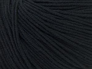 Fiber Content 60% Cotton, 40% Acrylic, Brand Ice Yarns, Black, Yarn Thickness 2 Fine  Sport, Baby, fnt2-32555