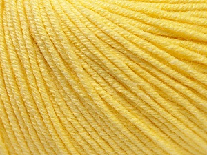 Fiber Content 60% Cotton, 40% Acrylic, Light Yellow, Brand Ice Yarns, Yarn Thickness 2 Fine  Sport, Baby, fnt2-32558