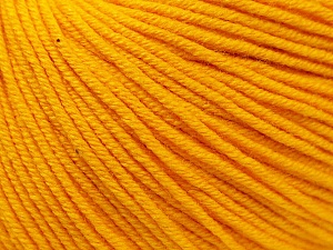 Fiber Content 60% Cotton, 40% Acrylic, Yellow, Brand Ice Yarns, Yarn Thickness 2 Fine  Sport, Baby, fnt2-32559