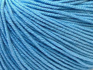 Fiber Content 60% Cotton, 40% Acrylic, Light Blue, Brand Ice Yarns, Yarn Thickness 2 Fine  Sport, Baby, fnt2-32560