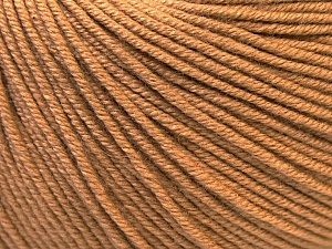 Fiber Content 60% Cotton, 40% Acrylic, Light Brown, Brand Ice Yarns, Yarn Thickness 2 Fine  Sport, Baby, fnt2-32565