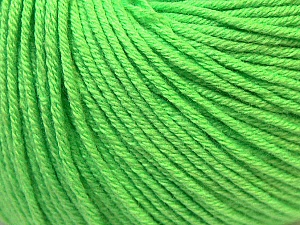 Fiber Content 60% Cotton, 40% Acrylic, Light Green, Brand Ice Yarns, Yarn Thickness 2 Fine  Sport, Baby, fnt2-32622