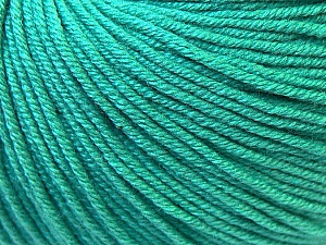 Fiber Content 60% Cotton, 40% Acrylic, Brand Ice Yarns, Emerald Green, Yarn Thickness 2 Fine  Sport, Baby, fnt2-32623