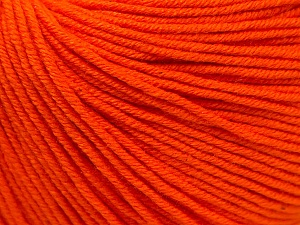 Fiber Content 60% Cotton, 40% Acrylic, Orange, Brand Ice Yarns, Yarn Thickness 2 Fine  Sport, Baby, fnt2-32824