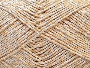 Fiber Content 50% Polyester, 50% Cotton, Brand Ice Yarns, Cream, Yarn Thickness 2 Fine  Sport, Baby, fnt2-33041