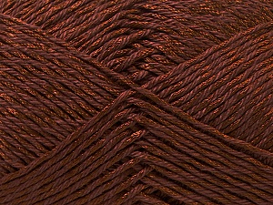 Fiber Content 50% Polyester, 50% Cotton, Brand Ice Yarns, Brown, Yarn Thickness 2 Fine  Sport, Baby, fnt2-33042