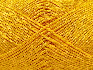 Fiber Content 50% Polyester, 50% Cotton, Yellow, Brand Ice Yarns, Yarn Thickness 2 Fine  Sport, Baby, fnt2-33046