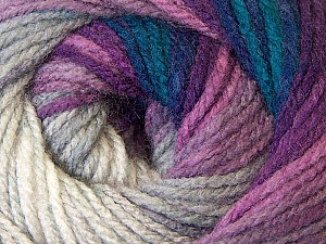 Fiber Content 100% Acrylic, White, Purple, Navy, Brand Ice Yarns, Grey, Blue, Yarn Thickness 3 Light  DK, Light, Worsted, fnt2-33053