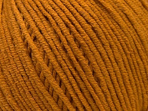 Fiber Content 50% Acrylic, 50% Cotton, Brand Ice Yarns, Dark Gold, Yarn Thickness 3 Light  DK, Light, Worsted, fnt2-33059