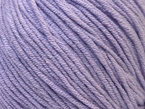 Fiber Content 50% Cotton, 50% Acrylic, Light Lilac, Brand Ice Yarns, Yarn Thickness 3 Light  DK, Light, Worsted, fnt2-33061