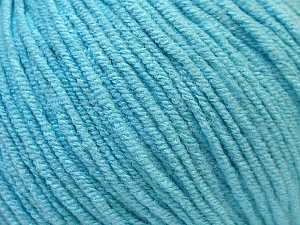 Fiber Content 50% Acrylic, 50% Cotton, Light Turquoise, Brand Ice Yarns, Yarn Thickness 3 Light  DK, Light, Worsted, fnt2-33062