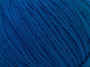 Fiber Content 50% Acrylic, 50% Cotton, Brand Ice Yarns, Bright Blue, Yarn Thickness 3 Light  DK, Light, Worsted, fnt2-33064