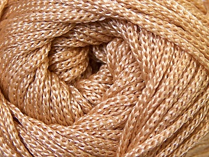 Width is 3 mm Fiber Content 100% Polyester, Light Brown, Brand Ice Yarns, fnt2-33261