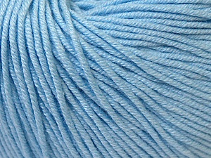 Fiber Content 60% Cotton, 40% Acrylic, Brand Ice Yarns, Baby Blue, Yarn Thickness 2 Fine  Sport, Baby, fnt2-33586