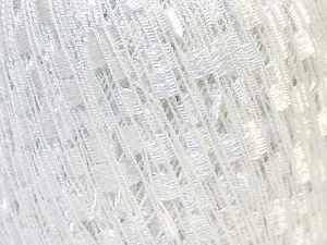 Trellis  Fiber Content 95% Polyester, 5% Lurex, White, Brand Ice Yarns, Yarn Thickness 5 Bulky  Chunky, Craft, Rug, fnt2-33592
