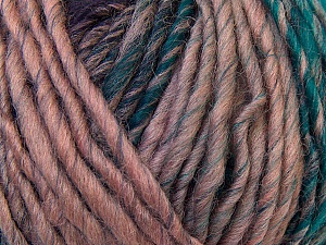 Fiber Content 60% Wool, 40% Acrylic, Purple, Light Pink, Brand Ice Yarns, Green, Blue, Black, Yarn Thickness 4 Medium Worsted, Afghan, Aran, fnt2-34607