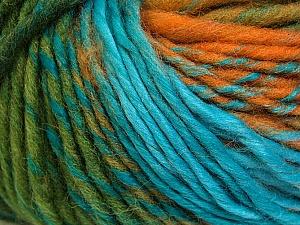 Fiber Content 60% Wool, 40% Acrylic, Turquoise, Purple, Navy, Brand Ice Yarns, Green, Gold, Yarn Thickness 4 Medium Worsted, Afghan, Aran, fnt2-34608