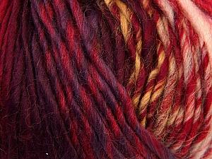 Fiber Content 60% Wool, 40% Acrylic, Salmon, Red, Lilac, Brand Ice Yarns, Green, Blue, Yarn Thickness 4 Medium Worsted, Afghan, Aran, fnt2-34609
