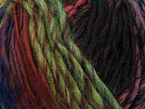 Fiber Content 60% Wool, 40% Acrylic, Orange, Brand Ice Yarns, Green Shades, Fuchsia, Blue, Black, Yarn Thickness 4 Medium Worsted, Afghan, Aran, fnt2-34610