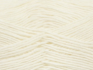 Fiber Content 50% Acrylic, 50% Wool, White, Brand Ice Yarns, Yarn Thickness 3 Light  DK, Light, Worsted, fnt2-35018