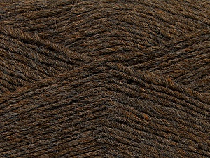 Fiber Content 50% Wool, 50% Acrylic, Brand Ice Yarns, Brown Melange, Yarn Thickness 3 Light  DK, Light, Worsted, fnt2-35025