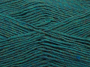 Fiber Content 50% Acrylic, 50% Wool, Teal Melange, Brand ICE, Yarn Thickness 3 Light  DK, Light, Worsted, fnt2-35027