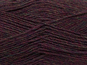 Fiber Content 50% Acrylic, 50% Wool, Maroon Melange, Brand Ice Yarns, Yarn Thickness 3 Light  DK, Light, Worsted, fnt2-35029