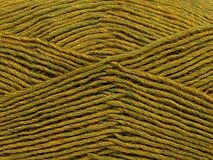 Fiber Content 50% Acrylic, 50% Wool, Olive Green Melange, Brand Ice Yarns, Yarn Thickness 3 Light  DK, Light, Worsted, fnt2-35030