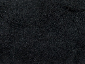 Fiber Content 70% Mohair, 30% Acrylic, Brand Ice Yarns, Black, Yarn Thickness 3 Light  DK, Light, Worsted, fnt2-35044