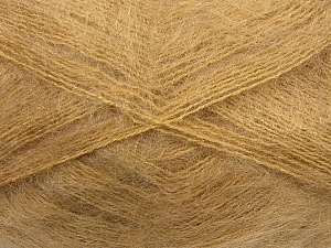 Fiber Content 70% Mohair, 30% Acrylic, Light Brown, Brand Ice Yarns, Yarn Thickness 3 Light  DK, Light, Worsted, fnt2-35048