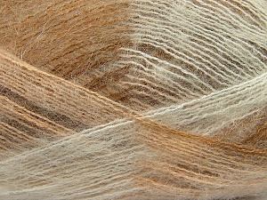 Fiber Content 70% Mohair, 30% Acrylic, White, Brand Ice Yarns, Cream, Camel, Yarn Thickness 3 Light  DK, Light, Worsted, fnt2-35063