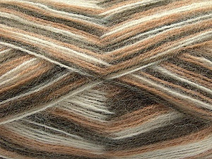 Fiber Content 70% Angora, 30% Acrylic, Light Brown, Brand Ice Yarns, Cream, Camel, Yarn Thickness 2 Fine  Sport, Baby, fnt2-35077