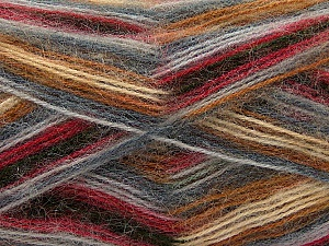 Fiber Content 70% Angora, 30% Acrylic, Brand Ice Yarns, Grey Shades, Fuchsia, Brown Shades, Yarn Thickness 2 Fine  Sport, Baby, fnt2-35082