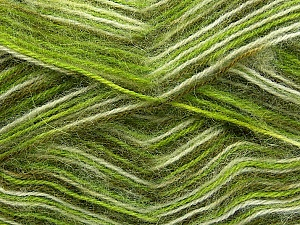 Fiber Content 70% Angora, 30% Acrylic, White, Brand Ice Yarns, Green Shades, Yarn Thickness 2 Fine Sport, Baby, fnt2-35085