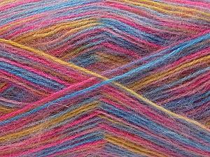 Fiber Content 70% Angora, 30% Acrylic, Pink, Brand Ice Yarns, Gold, Blue, Yarn Thickness 2 Fine Sport, Baby, fnt2-35091
