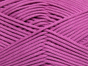 This is a tube-like yarn with soft fleece inside. Fiber Content 73% Viscose, 27% Polyester, Orchid, Brand Ice Yarns, Yarn Thickness 5 Bulky  Chunky, Craft, Rug, fnt2-35611