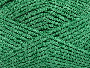 This is a tube-like yarn with soft fleece inside. Fiber Content 73% Viscose, 27% Polyester, Brand Ice Yarns, Green, Yarn Thickness 5 Bulky  Chunky, Craft, Rug, fnt2-35612