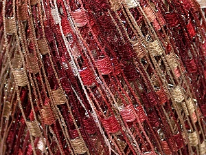 Trellis  Fiber Content 95% Polyester, 5% Lurex, Pink, Brand Ice Yarns, Cream, Camel, Burgundy, Yarn Thickness 5 Bulky  Chunky, Craft, Rug, fnt2-36476