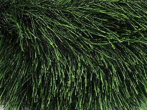 Fiber Content 100% Polyester, Brand Ice Yarns, Green, Black, Yarn Thickness 5 Bulky  Chunky, Craft, Rug, fnt2-36647