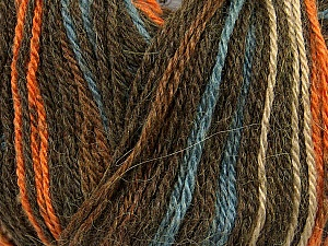 Fiber Content 40% Acrylic, 35% Wool, 25% Alpaca, Orange, Brand Ice Yarns, Camel, Brown, Blue, Yarn Thickness 2 Fine  Sport, Baby, fnt2-36980