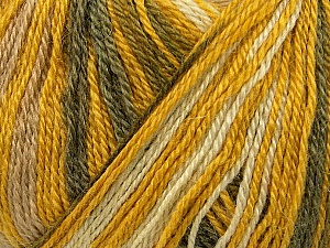 Fiber Content 40% Acrylic, 35% Wool, 25% Alpaca, Yellow, White, Olive Green, Khaki, Brand Ice Yarns, Yarn Thickness 2 Fine  Sport, Baby, fnt2-36982
