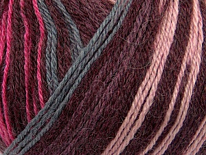 Fiber Content 40% Acrylic, 35% Wool, 25% Alpaca, Pink, Maroon, Brand Ice Yarns, Grey, Yarn Thickness 2 Fine  Sport, Baby, fnt2-36984
