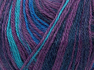 Fiber Content 40% Acrylic, 35% Wool, 25% Alpaca, Turquoise, Purple, Maroon, Brand Ice Yarns, Blue, Yarn Thickness 2 Fine  Sport, Baby, fnt2-36986
