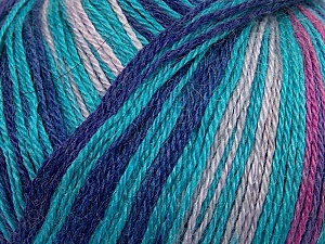 Fiber Content 40% Acrylic, 35% Wool, 25% Alpaca, Turquoise, Lilac, Brand Ice Yarns, Fuchsia, Blue, Yarn Thickness 2 Fine  Sport, Baby, fnt2-36987