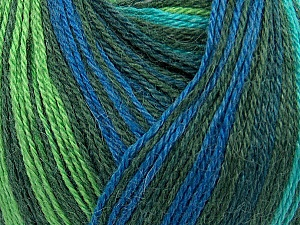 Fiber Content 40% Acrylic, 35% Wool, 25% Alpaca, Turquoise, Brand Ice Yarns, Green Shades, Blue, Yarn Thickness 2 Fine  Sport, Baby, fnt2-36988